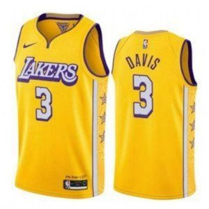 Anthony Davis Los Angeles Lakers Gold NBA Jersey